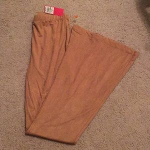 Brown flare leg pants
